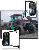 Case IH 7100/7200 Magnum Tractor Mirror Kit