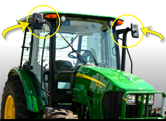 John Deere 5000 & 6000 Mirror Kit (Single Side)